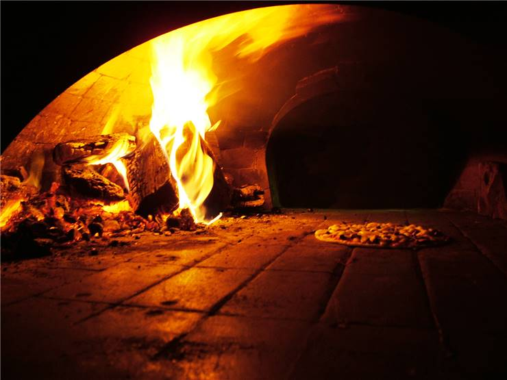 Pizza and Pizza Oven